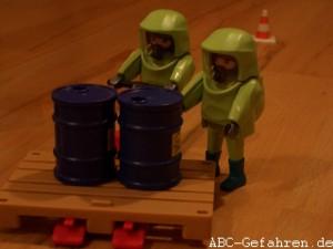 Bergung des Gefahrstoffes