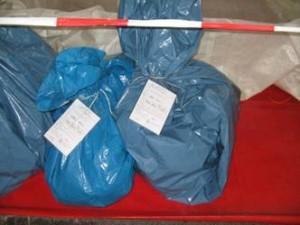 Materialablage Foliensäcke